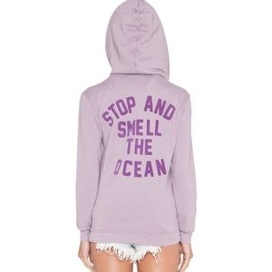 Wildfox Stop and Smell The Ocean Purple Jacket